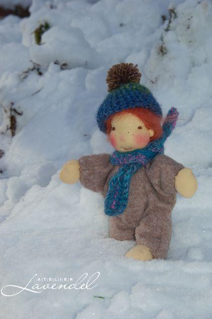 handmade cuddle doll by Atelier Lavendel, Mr Winter