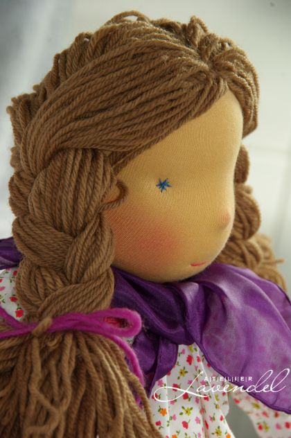Handmade Waldorf doll by Atelier Lavendel: Meet Iness! Lovingly handmade with all natural, organic materials. Handcrafted in Germany