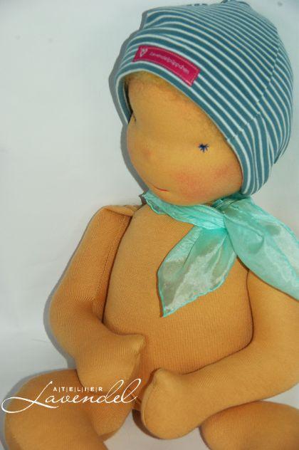 handmade waldorf baby doll by Atelier Lavendel