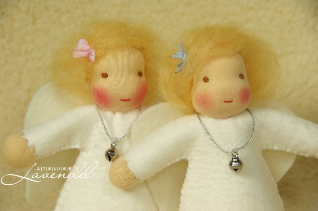 Waldorf angel dolls by Atelier Lavendel. ECO friendly, organic, safe and fun for every age. Handmade in Germany.