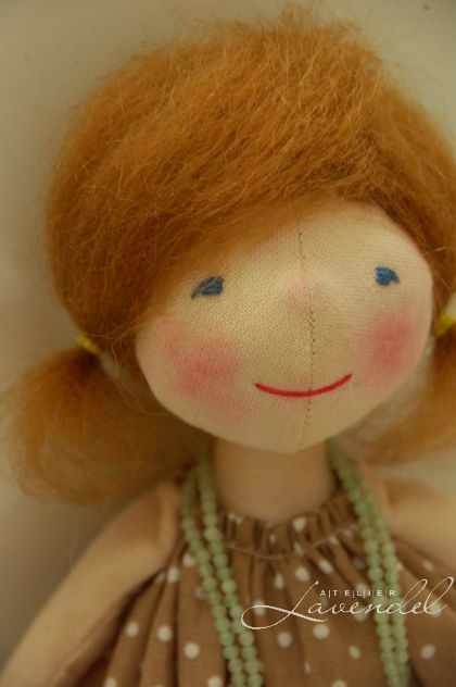 Handmade cloth doll by Atelier Lavendel. Waldorf inspired, all natural materials, organic. Handmade in Germany.