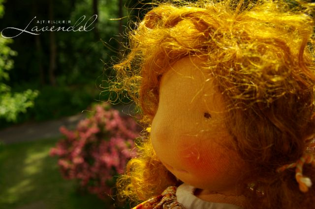Organic Waldorf doll by Atelier Lavendel