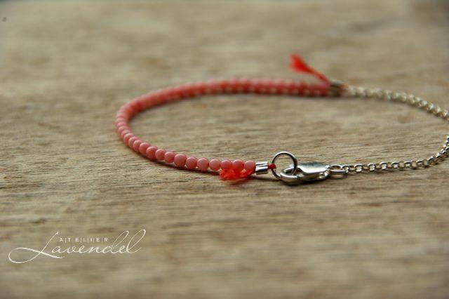 genuine pink coral bracelet by Atelier Lavendel