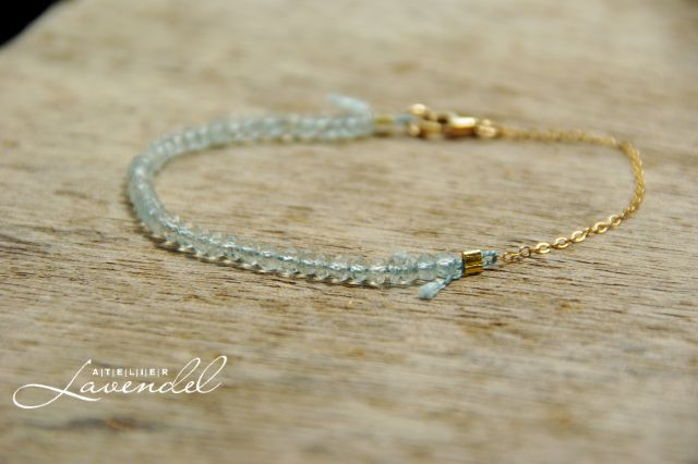 Genuine Aquamarine Bracelet by Atelier Lavendel