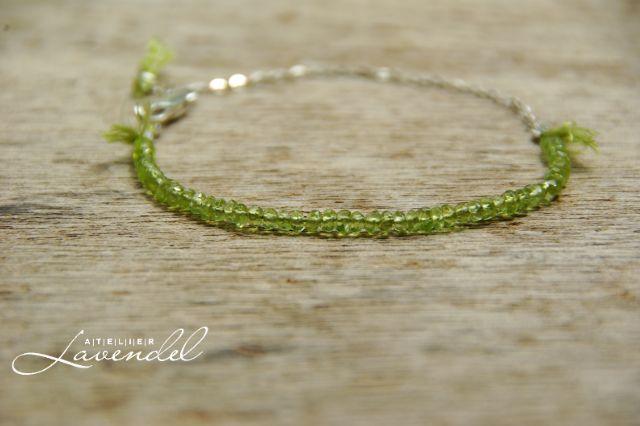Genuine Peridot Bracelet by Atelier Lavendel