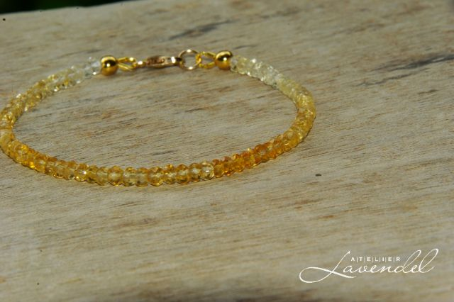 shaded citrine bracelet by Atelier Lavendel. Handmade in Germany