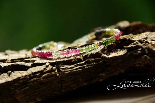 Genuine Tourmaline Bracelet by Atelier Lavendel. Handmade in Germany