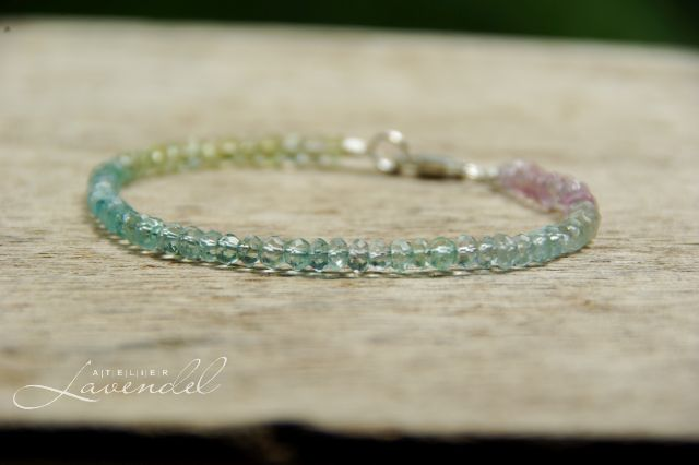 Multi Aquamarine Bracelet by Atelier Lavendel. Handmade in Germany.