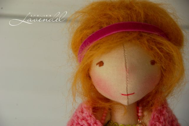Handmade art cloth dolls by Atelier Lavendel. Handcrafted in Germany.