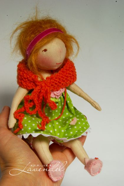 Honey, collectible handmade doll by Atelier Lavendel. Handmade in Germany.
