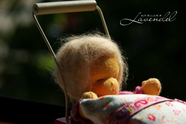 Vintage inspired baby doll. Handmade by Atelier Lavendel.