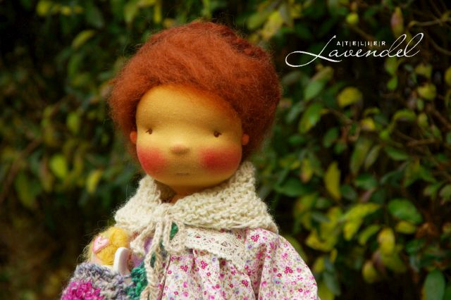 waldorf doll by Atelier Lavendel. Handmade with love and care. Handcrafted in Germany.