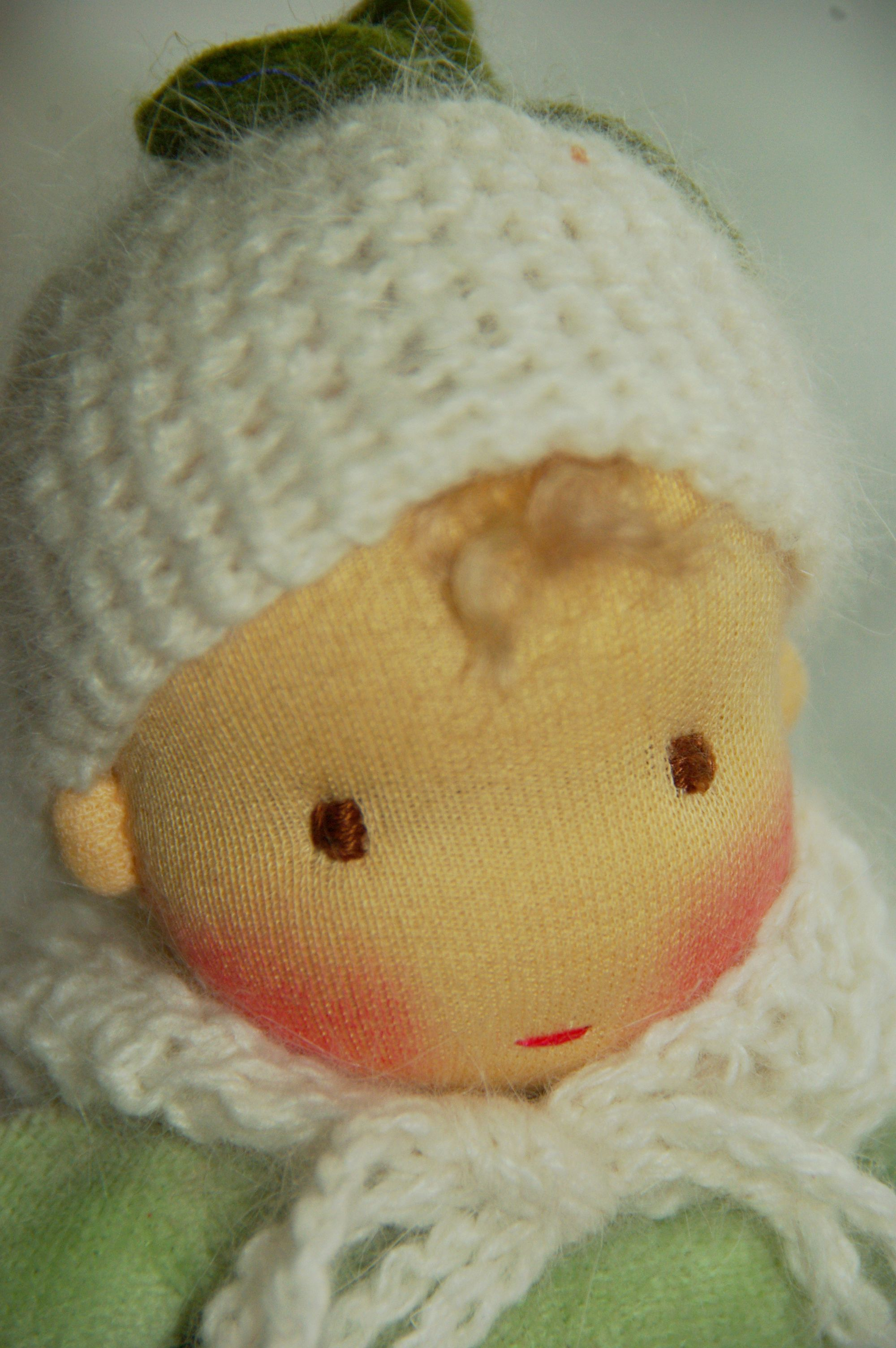 little Waldorf baby doll, lovingly handmade by Atelier Lavendel is made with all natural, organic materials. ECO friendly Handmade in Germany.