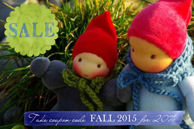 Waldorf dolls on sale. Handmade by Atelier Lavendel
