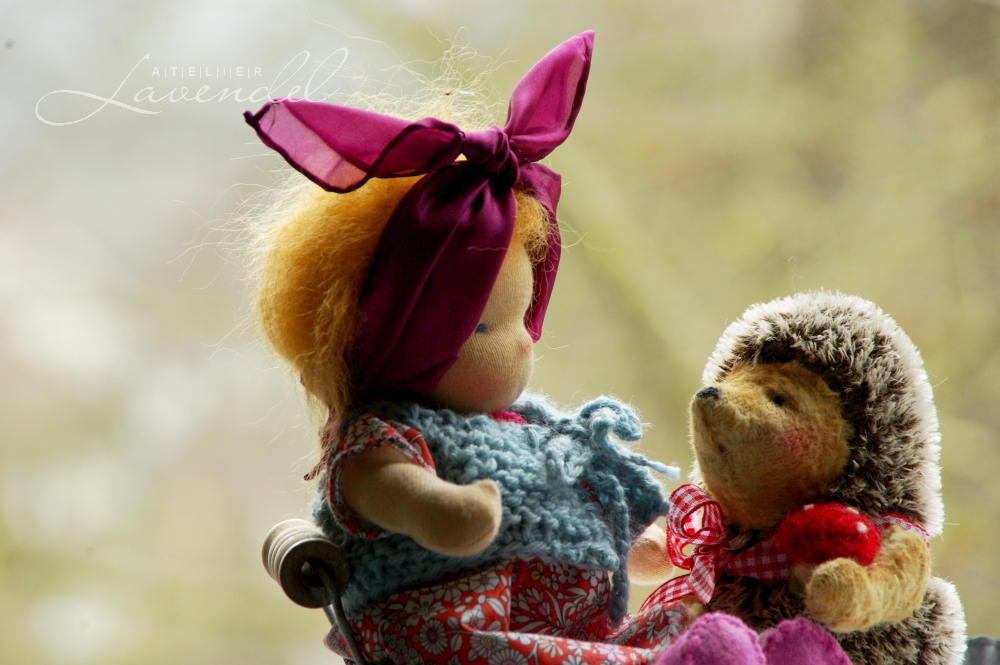 Handcrafted Waldorf dolls by Atelier Lavendel are carefully made using all natural organic materials.