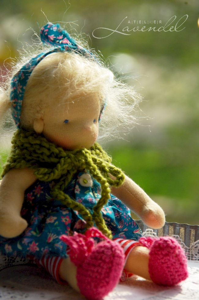 Waldorf doll making class by Atelier Lavendel, 20cm handmade Waldorf doll for the beginners.