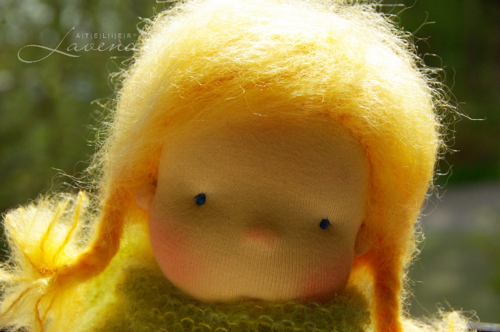 Artist made dolls by Atelier Lavendel: Waldorf inspire, all natural, made with organic best quality materials. Handmade in Germany.