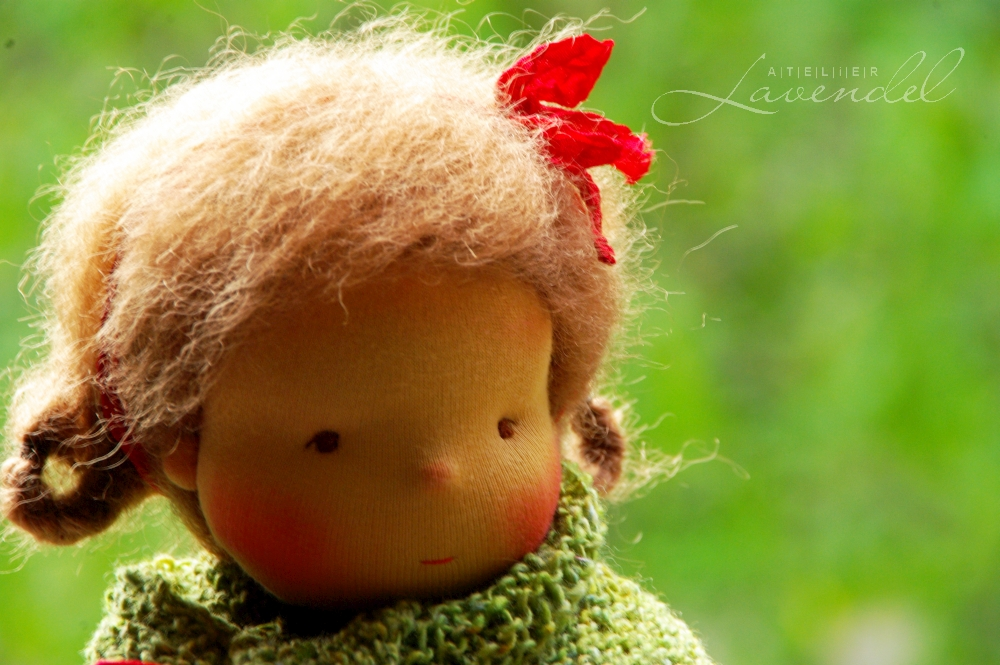 Natural handmade Waldorf dolls, made by Atelier Lavendel are made with all natural organic material and lots of love and attention to details. Handmade in Germany.