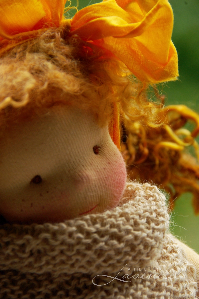 handmade Waldorf dolls ooak: meet Tilde. She is standing 10 inches, lovingly handmade by Atelier Lavendel, using organic all natural materials.