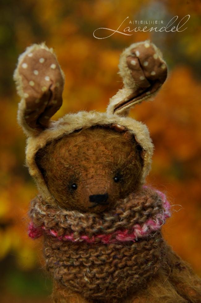 ooak artist bunny: meet Jammie! OOAK artist bear. Handmade in Germany.