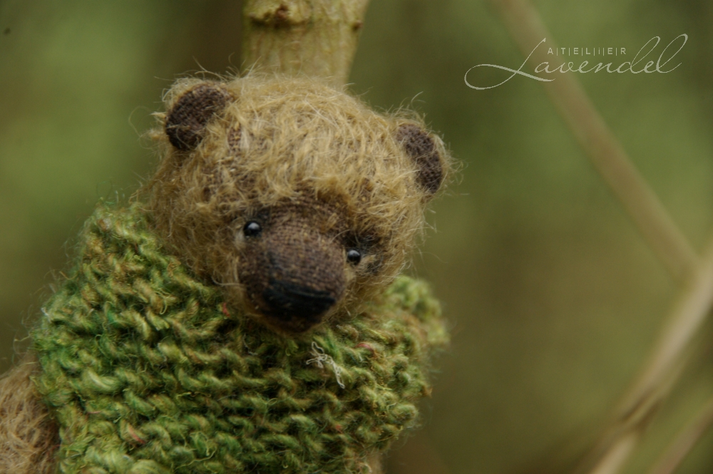 ooak artist bear mohair: Meet Gregor, OOAK artist bear by Atelier Lavendel, handmade with love and care using original designs and high-quality materials.