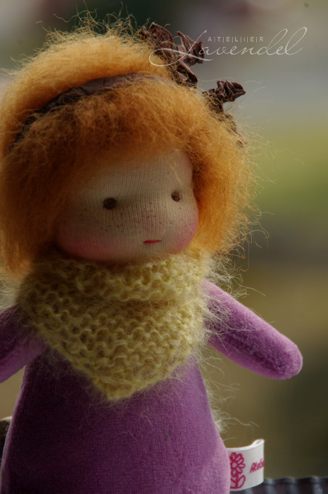 organic Waldorf cuddle doll: meet Anita, lovingly handmade by Atelier Lavendel with lots of love and care. All natural high quality organic materials.