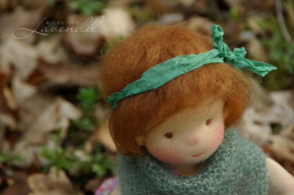 rtg ooak waldorf doll: meet Imgrid by Atelier Lavendel, standing 9 inches, made with all natural organic materials. Handmade in Germany.
