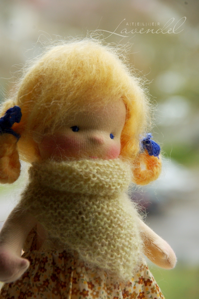 rtg waldorf doll: meet Sonya, standing 9 inches, made with all natural organic materials. Handmade in Germany with lots of love and care.