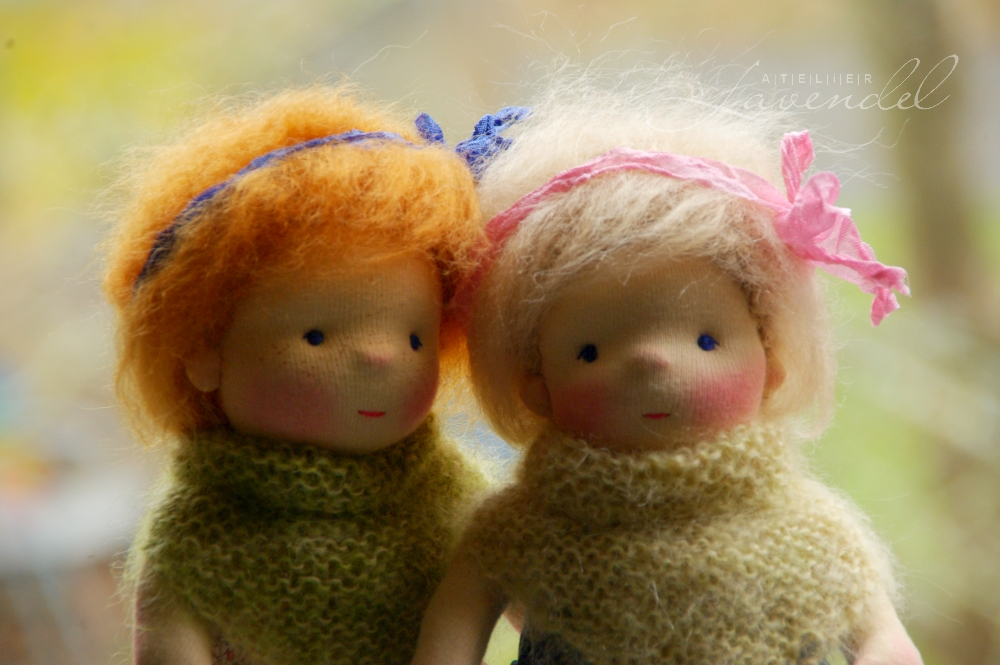 ooak natural fiber doll by Atelier Lavendel: meet Rita, standing 9 inches, handmade with love and care. Handmade in Germany.