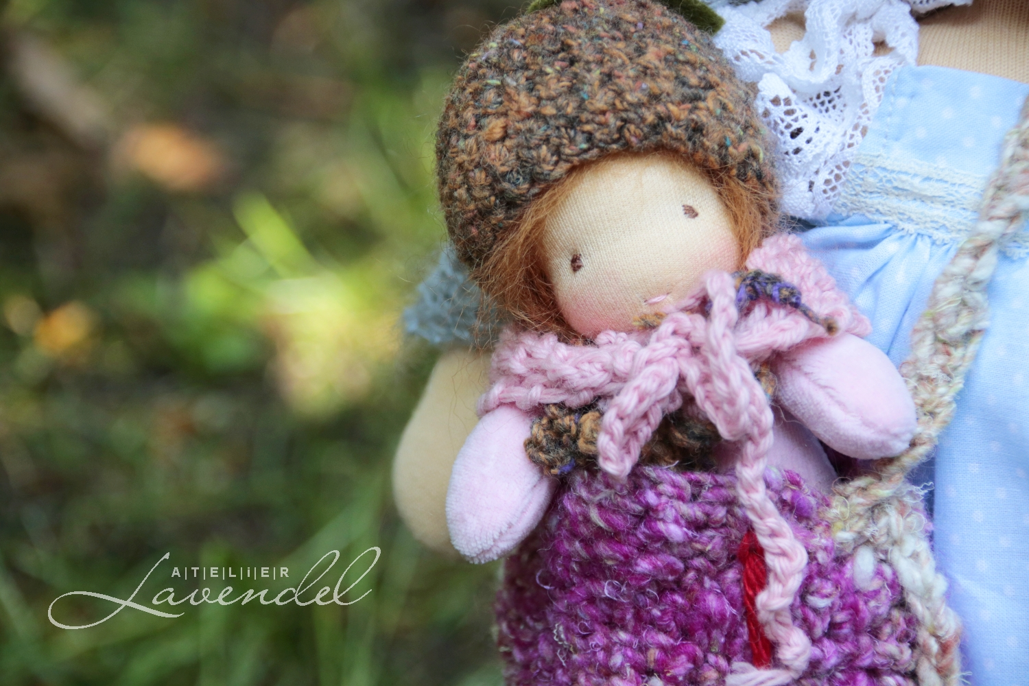Natural fiber art doll ooak by Atelier Lavendel: meet Ariane and Luca. Organic, best quality materials, many sweet details, heirloom quality. Handmade in Germany