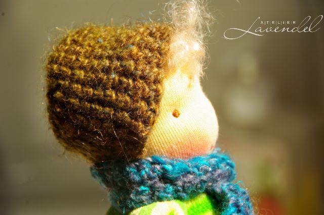 Baby boy doll by Atelier Lavendel. Handmade in Germany.