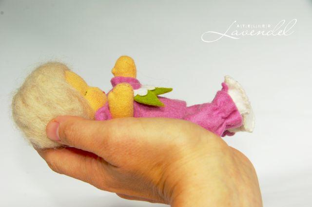 Vintage inspired baby doll. Handmade by Atelier Lavendel.