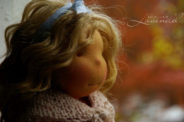 Natürliche Puppen. Handgemacht im Atelier Lavendel.