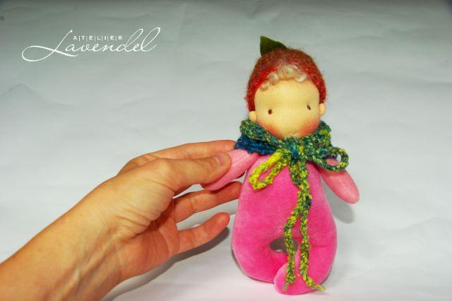 Waldorf Babypuppe by Atelier Lavendel. Handmade in Germany.