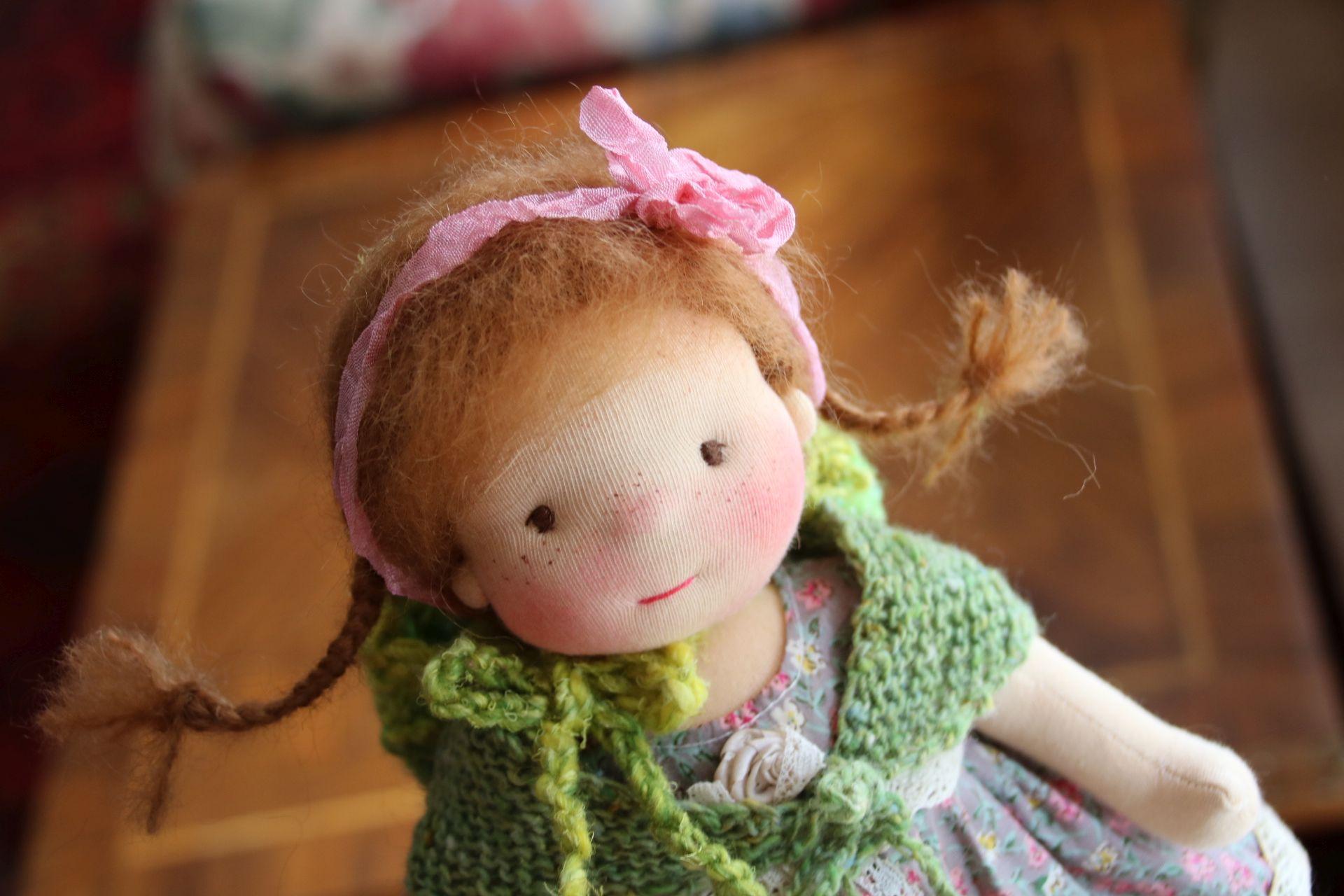 art doll, natural fibers art doll, OOAK Dolls, Waldorf Inspired Dolls and Toys