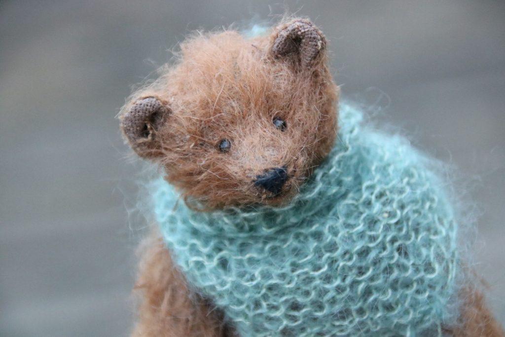 miniature mohair bear by Atelier Lavendel