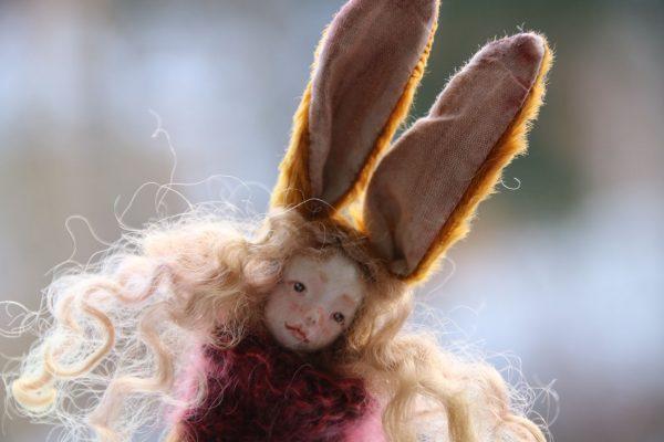miniature teddy doll by Atelier Lavendel